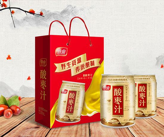 铂山酸枣汁礼盒包装设计