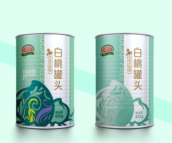 华深水果罐头包装设计